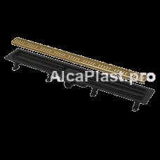 Водоотводящий желоб AlcaPlast APZ10BLACK-550BRASS