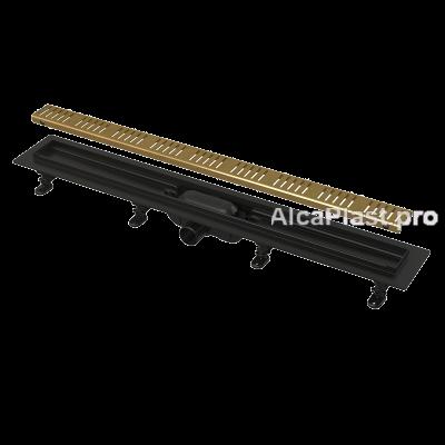Водовідвідний жолоб AlcaPlast APZ10BLACK-550BRASS