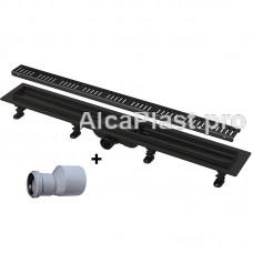 Водоотводящий желоб AlcaPlast APZ10BLACK-550M Simple