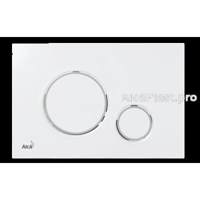 Кнопка управління AlcaPlast M770 білий / хром-глянець