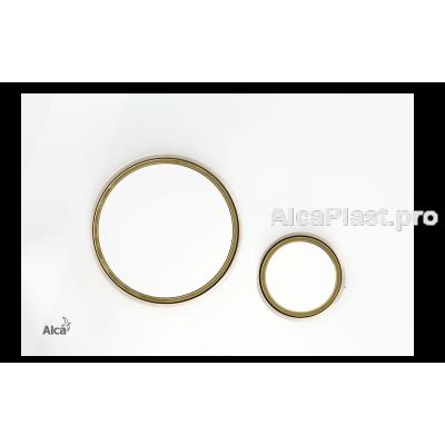 Кнопка управління AlcaPlast M775 білий/золото-мат