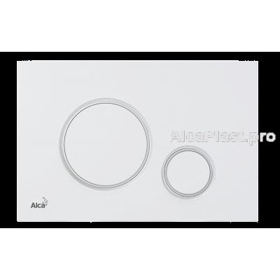 Кнопка управління AlcaPlast M776 білий мат хром-глянець