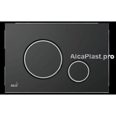 Кнопка управління AlcaPlast M778 чорний-мат / хром-глянець