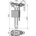 """Впускний механізм AlcaPlast A150P-3/8"""" бічний підвід пластик для інсталяцій і пластикових бачків"""