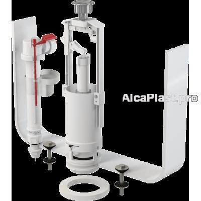 """Випускний комплект AlcaPlast SA2000S 1/2"""" CHROM зі стоп кнопкою, нижнє підведення пластик"""