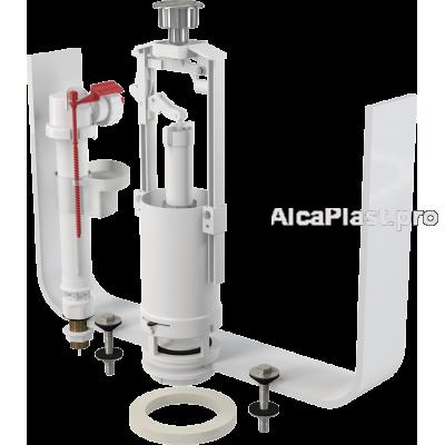 """Випускний комплект AlcaPlast SA2000SK 1/2"""" CHROM зі стоп кнопкою, нижнє підведення метал"""
