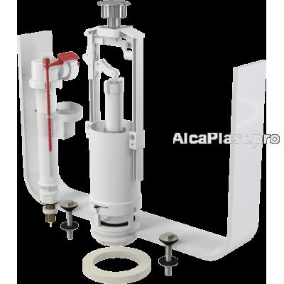 """Випускний комплект AlcaPlast SA2000SK 3/8"""" CHROM зі стоп кнопкою, нижнє підведення метал"""