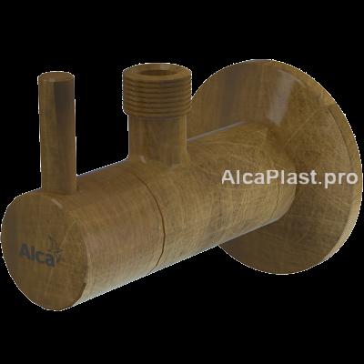 """Кутовий вентиль Alcaplast ARV001-ANTIC 1/2""""х3/8"""" круглий, бронза-antic"""