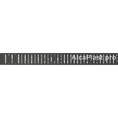 Водостічна решітка AlcaPlast PURE-1150BLACK чорний-мат, 850мм