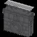 Пісковловлювач для дренажного каналу AVZ101 без рами з оцинкованою решіткою Т-подібного профілю А15 AVZ101R-R101S