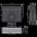 Пісковловлювач для дренажного каналу AVZ101-R121 з щілинною асиметричною надставкою з оцинкованої сталі С250 AVZ101R-R121R