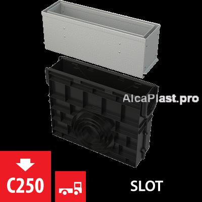 Пісковловлювач для дренажного каналу AVZ101-R122 з щілинною асиметричною надставкою з оцинкованої сталі С250 AVZ101R-R122R