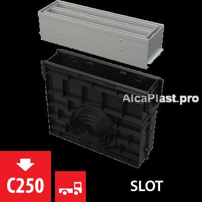 Пісковловлювач для дренажного каналу AVZ101-R123 з щілинною симметричной надставкой з оцинкованої сталі С250 AVZ101R-R123R