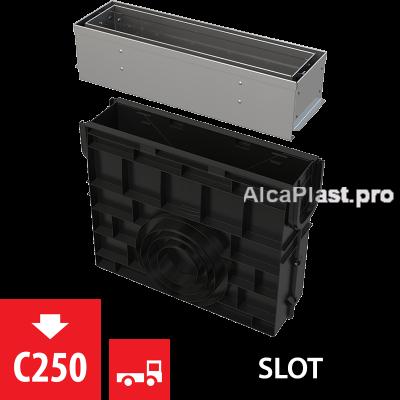 Пісковловлювач для дренажного каналу AVZ101-R321 з щілинною асиметричною надставкою  з нержавіючої сталі С250 AVZ101R-R321R