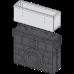 Пісковловлювач для дренажного каналу AVZ101-R322 з щілинною асимметричной наставкой з нержавіючої сталі С250 AVZ101R-R322R