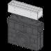 Пісковловлювач для дренажного каналу AVZ101-R323 з щілинною симметричной надставкой з нержавіючої сталі С250 AVZ101R-R323R