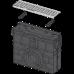 Пісковловлювач для дренажного каналу AVZ102 з пластиковою рамою і оцинкованою решіткою С-образного профілю А15 AVZ102R-R102S