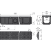 Дренажний канал 100 мм з металевою рамою і решіткою з композитного матеріалу С250 AVZ103-R403