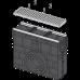 Пісковловлювач для дренажного каналу AVZ103 з металевою рамою і оцинкованою решіткою С250 AVZ103R-R104S