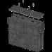 Пісковловлювач для дренажного каналу AVZ104 з пластиковою рамою і решіткою А15 AVZ104R-R401