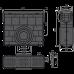 Пісковловлювач для дренажного каналу AVZ104 з пластиковою рамою і решіткою з композитного матеріалу В125 AVZ104R-R402