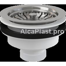 """Водозлив сифона для мийки 6/4"""" з нержавіючою решіткою d115 AlcaPlast A37"""