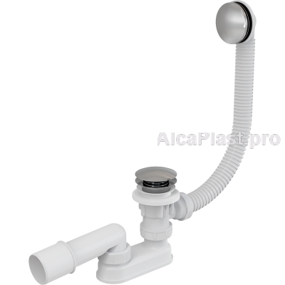 Сифон для ванни AlcaPlast A504KM-80 CLICK-CLACK, хромований