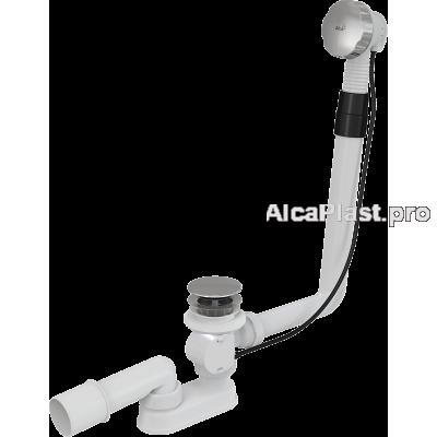 Сифон для ванни AlcaPlast A550KM-80, автомат, хромований, 80 cм