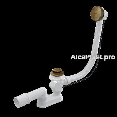 Сифон для ванни AlcaPlast A55ANTIC, автомат, бронза - антик