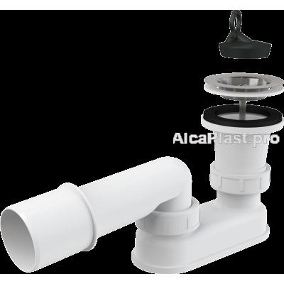 Сифон для піддону AlcaPlast A461-50 з протівозапаховим затвором, d50