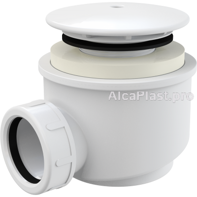 Сифон для піддону AlcaPlast A47B-60 білий d60
