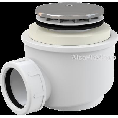 Сифон для піддону AlcaPlast A47CR-50 хромований d50