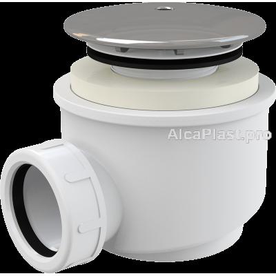 Сифон для піддону AlcaPlast A47CR-60 хромований d60