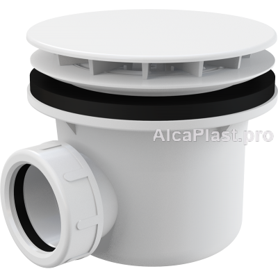 Сифон для піддону AlcaPlast A49B білий