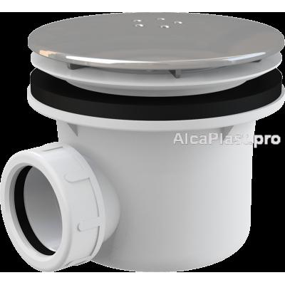 Сифон для піддону AlcaPlast A49K LUX метал