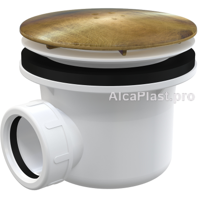 Сифон для піддону AlcaPlast A49ANTIC металевий, бронза
