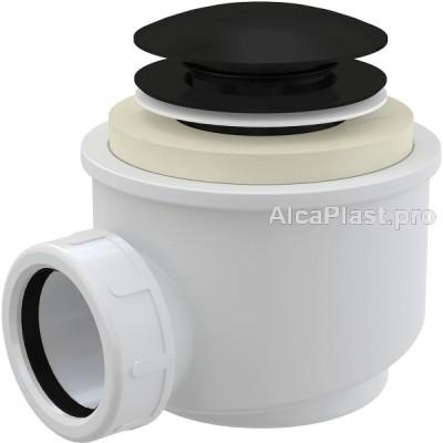 Сифон для піддону AlcaPlast A465BLACK-50 click-clack