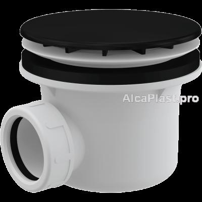 Сифон для піддону AlcaPlast A49BLACK метал