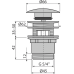 """Донний клапан AlcaPlast A390 CLICK-CLACK 5/4"""" для умивальника, суцільнометалевий, велика пробка"""