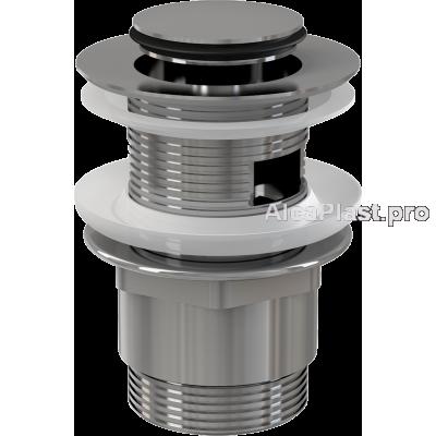 """Донний клапан AlcaPlast A39 CLICK-CLACK 5/4"""" для умивальника, суцільнометалевий, мала пробка"""