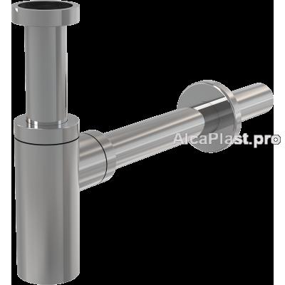 Сифон для умивальника AlcaPlast A400 DESIGN, суцільнометалевий