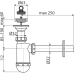 Сифон для умивальника AlcaPlast A410, d32 з нержавіючою решіткою d63