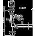 Сифон для умивальника AlcaPlast A410P, d32 з підведенням і нержавіючої гратами d63