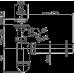 Сифон для умивальника AlcaPlast A41P, d40 з підведенням і нержавіючою решіткою d63
