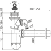 Сифон для умивальника AlcaPlast A42P, d40 з підведенням і пластмасовою решіткою d63