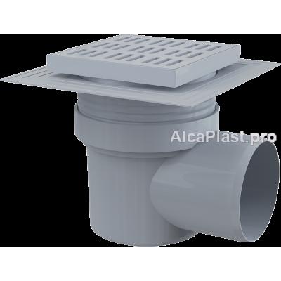 Зливний трап Alcaplast APV10, 150x150 / 110мм, бічний відвід, гідрозатвор мокрий