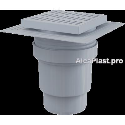 Зливний трап Alcaplast APV11, 150x150 / 110мм, прямий відвід, гідрозатвор мокрий