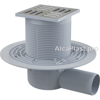 Зливний трап Alcaplast APV1321, 105x105 / 50, бічний відвід, гідрозатвор комбінований SMART