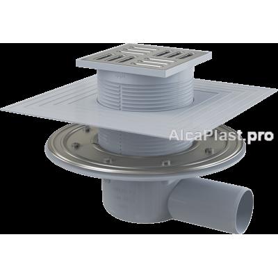 Зливний трап Alcaplast APV1324, 105x105 / 50, бічний відвід, гідрозатвор комбінований SMART