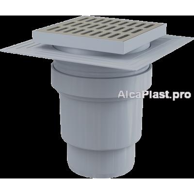 Зливний трап Alcaplast APV13, 150x150 / 110мм, прямий відвід. гідрозатвор мокрий